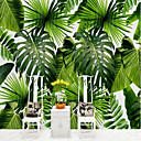 cheap Prints-Botanical Pattern 3D Home Decoration Vintage Modern Wall Covering, Canvas Material Adhesive required Mural, Room Wallcovering