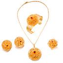 זול סט תכשיטים-בגדי ריקוד נשים סט תכשיטים - ציפוי זהב הצהרה, אופנתי לִכלוֹל זהב עבור חתונה Party