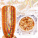 cheap Nail Glitter-2pcs Two-piece Suit Glitter Powder Glamorous Glitter / Nail Glitter Nail Art Design / Nail Art Tips