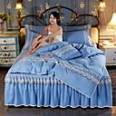 זול כיסוי שמיכות מוצק-סטי שמיכה אחיד פולי / כותנה / polyster חוט צבוע 4 חלקיםBedding Sets