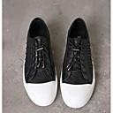 זול נעלי ספורט לגברים-בגדי ריקוד גברים עור נאפה Leather / עור אביב / סתיו נוחות נעלי ספורט לבן / שחור