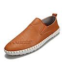 זול כלי צעצוע-בגדי ריקוד גברים אור סוליות עור אביב / סתיו נעליים ללא שרוכים שחור / אפור / חום