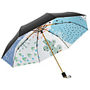 abordables Paraguas/Parasol-Tejido Mujer Soleado y lluvioso / A prueba de Viento Paraguas de Doblar