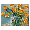 cheap Floral/Botanical Paintings-Oil Painting Hand Painted - Still Life Floral / Botanical Comtemporary Modern Canvas