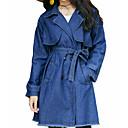 رخيصةأون أحذية سليب أون وأحذية مفتوحة للرجال-قطن نسائي أزرق M L XL جواكيت جينز طويلة لون سادة قبعة القميص