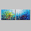 povoljno Apstraktno slikarstvo-Hang oslikana uljanim bojama Ručno oslikana - Pejzaž Cvjetni / Botanički Moderna Uključi Unutarnji okvir / Prošireni platno