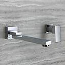 povoljno Slavine za umivaonik-Kupaonica Sudoper pipa - Okretljive slavine Chrome Zidne slavine Jedan obrađuju dvije rupeBath Taps