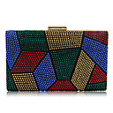 cheap Clutches & Evening Bags-Women's Bags Polyester / Metal Evening Bag Crystals Red / Purple / Rainbow