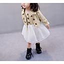 זול חפצים דקורטיביים-שמלה פוליאסטר אביב שרוול ארוך יומי קולור בלוק הילדה של וינטאג' חאקי