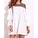 cheap Party Headpieces-Women's Basic Cotton Loose Loose Dress - Solid Colored White