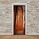 tanie Naklejki ścienne-Naklejki na drzwi - Naklejki ścienne lotnicze / Naklejki ścienne 3D Krajobraz / Kwiatowy / Roślinny Gabinet / Pokój do nauki / Na wolnym powietrzu / Możliwość zmiany miejsca