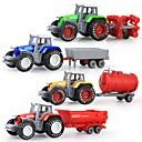 baratos Carros de brinquedo-Caminhão Veículo de Fazenda Caminhão basculante Caminhões & Veículos de Construção Civil 01:50 Revestimento em Plástico 4pcs Para Meninos