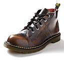 זול נעלי אוקספורד לגברים-בגדי ריקוד גברים מגפיי קרב עור נאפה Leather אביב / סתיו מגפיים מגפונים\מגף קרסול שחור / חום בהיר