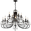 cheap Chandeliers-LightMyself™ Chandelier / Pendant Light Ambient Light Painted Finishes Metal Crystal 110-120V / 220-240V Bulb Not Included / E12 / E14