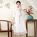 ieftine Cercei la Modă-Pentru femei Sofisticat Chinoiserie Larg Rochie - Brodat, Floral Stand Midi