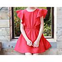 זול שמלות לבנות-בנות פשוט / פעיל מכנסיים - אחיד אודם / כותנה
