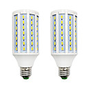 abordables Luces LED en Espiga-brelong 2 pcs regulable 84led smd5730 maíz blanco claro / blanco cálido / ac220v / e12 / e27 / b22