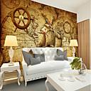 tanie Fresk-Mural Płótno Tapetowanie - klej wymagane Art Deco / Wzór / 3D