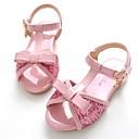 זול נעלי ילדות-בנות נעליים עור פטנט קיץ רצועה אחורית / נעליים לילדת הפרחים סנדלים סקוטש ל ורוד / חאקי