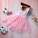 זול שמלות לבנות-בנות בוהו מכנסיים - אחיד תחרה / גב חשוף / קפלים ורוד מסמיק / Ruched / רשת / חמוד / חגים / ליציאה