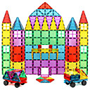 cheap Abstract Paintings-Magnetic Tiles Building Blocks 60 pcs Geometric Pattern Transparent Body Boys' Girls' Toy Gift