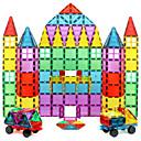 זול בלוקים מגנטיים-אריחים מגנטיים אבני בניין 60 pcs דגם גיאומטרי גוף שקוף בנים בנות צעצועים מתנות