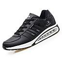 זול נעלי ספורט לגברים-בגדי ריקוד גברים PU אביב / סתיו נוחות נעלי אתלטיקה הליכה לבן / שחור / חום