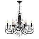 رخيصةأون ثريات-LightMyself™ 6-الضوء نجفات / أضواء معلقة ضوء محيط طلاء ملون معدن كريستال 110-120V / 220-240V لا يشمل لمبات / E12 / E14