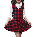 ieftine Seturi Îmbrăcăminte Fete-Copii Fete Simplu / Activ Concediu Mată / Plisat Funde / Imprimeu Manșon Lung Bumbac Set Îmbrăcăminte