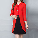 cheap Party Headpieces-Women's Plus Size Holiday Sophisticated Slim Sheath Dress - Color Block Basic Shirt Collar / Spring / Summer