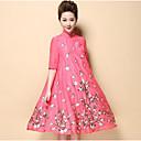 זול סטים של ביגוד לבנים-עומד רקום, פרחוני - שמלה נדן סגנון סיני בגדי ריקוד נשים