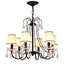 tanie Żyrandole-LightMyself™ 6 świateł Żyrandol / Lampy widzące Światło rozproszone Malowane wykończenia Metal Kryształ 110-120V / 220-240V Nie zawiera żarówek / E12 / E14