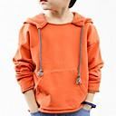 tanie Obuwie chłopięce-Dzieci Dla chłopców Prosty Solidne kolory / Wszechświat Regularny Bawełna Bluzy Pomarańczowy 140