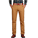 cheap Men's Boots-Men's Cotton Chinos Pants - Solid Colored Rivet