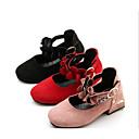 baratos Sapatos de Menina-Para Meninas Sapatos Pele Nobuck Primavera / Outono Conforto / Salto minúsculos para Adolescentes Saltos para Preto / Vermelho / Rosa