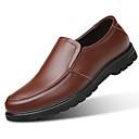 tanie Męskie mokasyny-Męskie Komfortowe buty Skóra Wiosna / Jesień Mokasyny i buty wsuwane Czarny / brązowy