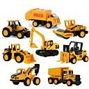 baratos Caminhões de brinquedo e veículos de construção-Mini Alloy engineering Car Caminhão Veiculo de Construção Caminhões & Veículos de Construção Civil Carros de Brinquedo 1:64 8 pcs Crianças Para Meninos Para Meninas Brinquedos Dom
