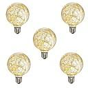 cheap LED Filament Bulbs-5pcs 3W 300lm E26 / E27 LED Filament Bulbs G95 33 LED Beads SMD Decorative Warm White 110-120V 220-240V