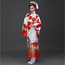 billige Etniske og kulturelle Kostymer-Cosplay Kjoler Japansk Kimono Dame Festival / høytid Halloween-kostymer Blå Rosa Rød Person Traditionel / Klassisk Kimonoer