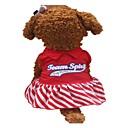 tanie Obroże, uprzęże i smycze dla psów-Psy Suknie Ubrania dla psów Hasło reklamowe Czerwony Bawełna Kostium Dla zwierząt domowych Lato Modny