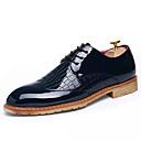 זול סניקרס לגברים-בגדי ריקוד גברים PU אביב / סתיו נוחות נעלי אוקספורד לבן / שחור / כחול כהה