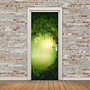 tanie Naklejki ścienne-Naklejki na drzwi - Naklejki ścienne lotnicze / Naklejki ścienne 3D Krajobraz / Kwiatowy / Roślinny Salon / Domowy / Możliwość zmiany miejsca