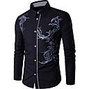 hesapli Erkek Gömlekleri-Erkek Pamuklu Gömlek İş Siyah / Uzun Kollu