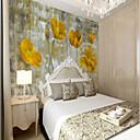 tanie Fresk-Kwiaty Art Deco 3D Dekoracja domowa Klasyczny Vintage Tapetowanie, Brezentowy Materiał klej wymagane Fresk, Pokój tapet