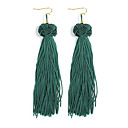 cheap Earrings-Women's Tassel Drop Earrings - Tassel, Fashion Fuchsia / Pink / Dark Green For Daily / Prom