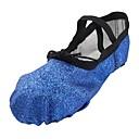 זול נעלי בלט-נעלי בלט נצנצים שטוחות שטוח מותאם אישית נעלי ריקוד כחול / אימון