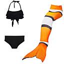 cheap Kids Halloween Costumes-Mermaid Tail Swimwear Men's / Women's Halloween / Children's Day Festival / Holiday Halloween Costumes Orange Solid Colored / Mermaid Mermaid and Trumpet Gown Slip