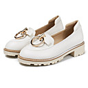 cheap Women's Slip-Ons & Loafers-Women's Shoes PU(Polyurethane) Spring / Fall Comfort / Novelty Loafers & Slip-Ons Low Heel Pointed Toe Rivet White / Pink / Almond