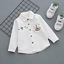 billige Topper til gutter-Baby Gutt Fritid Daglig Geometrisk Spenne Langermet Normal Bomull Skjorte Blå 120