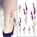 זול sleeve tattoos-21Grams מדבקה / קעקוע מדבקה זרוע קעקועים זמניים 10 pcs סדרות פרחים אמנות גוף